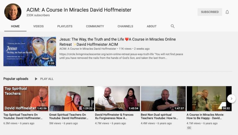 David Hoffmeister's YouTube Channel